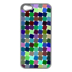 Geometric Background Colorful Iphone 5 Case (silver)