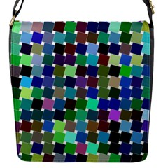 Geometric Background Colorful Flap Closure Messenger Bag (s)