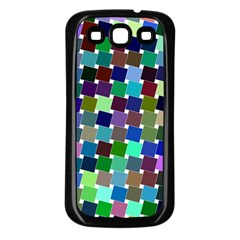 Geometric Background Colorful Samsung Galaxy S3 Back Case (black)
