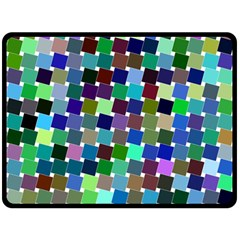 Geometric Background Colorful Double Sided Fleece Blanket (large)