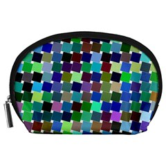 Geometric Background Colorful Accessory Pouch (large)