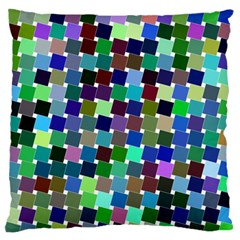 Geometric Background Colorful Large Flano Cushion Case (two Sides)