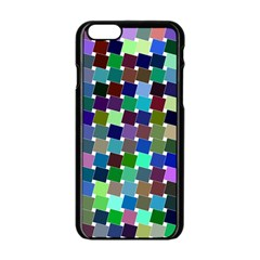 Geometric Background Colorful Iphone 6/6s Black Enamel Case
