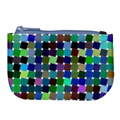 Geometric Background Colorful Large Coin Purse