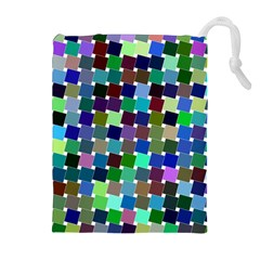 Geometric Background Colorful Drawstring Pouch (xl)