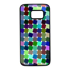 Geometric Background Colorful Samsung Galaxy S7 Black Seamless Case