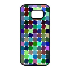 Geometric Background Colorful Samsung Galaxy S7 Edge Black Seamless Case
