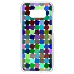 Geometric Background Colorful Samsung Galaxy S8 White Seamless Case