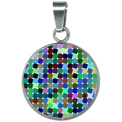 Geometric Background Colorful 20mm Round Necklace