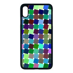 Geometric Background Colorful Iphone Xs Max Seamless Case (black)