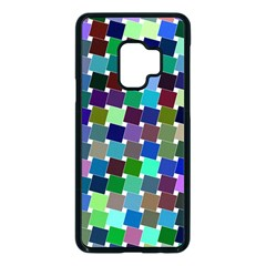Geometric Background Colorful Samsung Galaxy S9 Seamless Case(black)