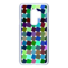 Geometric Background Colorful Samsung Galaxy S9 Plus Seamless Case(white)
