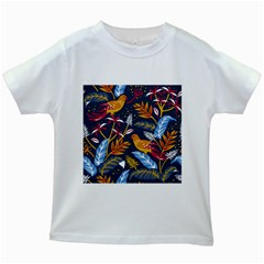 Colorful Birds In Nature Kids White T-shirts by Sobalvarro