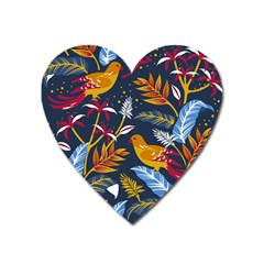 Colorful Birds In Nature Heart Magnet by Sobalvarro