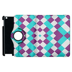 Texture Violet Apple Ipad 2 Flip 360 Case by Alisyart
