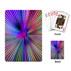Rays Colorful Laser Playing Cards Single Design (rectangle)