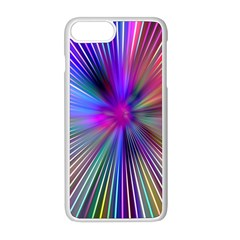 Rays Colorful Laser Iphone 8 Plus Seamless Case (white)