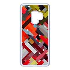 Maze Abstract Texture Rainbow Samsung Galaxy S9 Seamless Case(white) by Jojostore