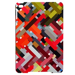 Maze Abstract Texture Rainbow Apple Ipad Mini 4 Black Uv Print Case by Jojostore