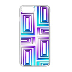 Geometric Metallic Aqua Purple Iphone 8 Plus Seamless Case (white)