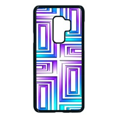 Geometric Metallic Aqua Purple Samsung Galaxy S9 Plus Seamless Case(black) by HermanTelo