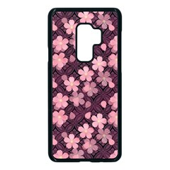 Cherry Blossoms Japanese Samsung Galaxy S9 Plus Seamless Case(black) by HermanTelo