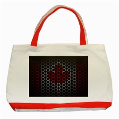 Canada Flag Hexagon Classic Tote Bag (red) by HermanTelo