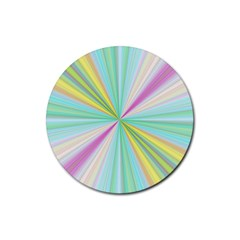 Background Burst Abstract Color Rubber Coaster (round)
