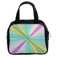 Background Burst Abstract Color Classic Handbag (two Sides) by HermanTelo