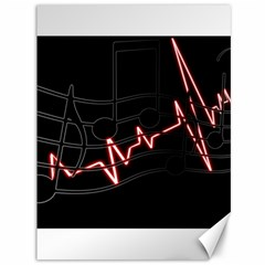 Music Wallpaper Heartbeat Melody Canvas 36  X 48  by HermanTelo