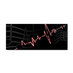 Music Wallpaper Heartbeat Melody Hand Towel by HermanTelo