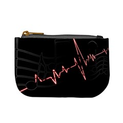 Music Wallpaper Heartbeat Melody Mini Coin Purse by HermanTelo