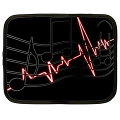 Music Wallpaper Heartbeat Melody Netbook Case (xl) by HermanTelo
