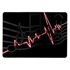 Music Wallpaper Heartbeat Melody Samsung Galaxy Tab 10 1  P7500 Flip Case by HermanTelo