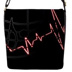 Music Wallpaper Heartbeat Melody Flap Closure Messenger Bag (s) by HermanTelo