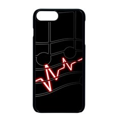 Music Wallpaper Heartbeat Melody Iphone 8 Plus Seamless Case (black)