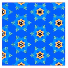 Pattern Backgrounds Blue Star Large Satin Scarf (square)