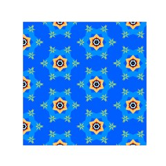 Pattern Backgrounds Blue Star Small Satin Scarf (square)