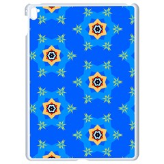 Pattern Backgrounds Blue Star Apple Ipad Pro 9 7   White Seamless Case