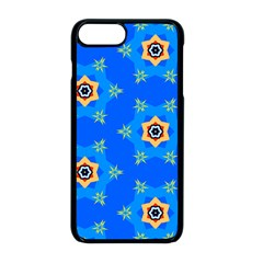 Pattern Backgrounds Blue Star Iphone 8 Plus Seamless Case (black)