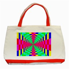 Maze Rainbow Vortex Classic Tote Bag (red) by HermanTelo