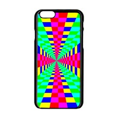 Maze Rainbow Vortex Iphone 6/6s Black Enamel Case by HermanTelo