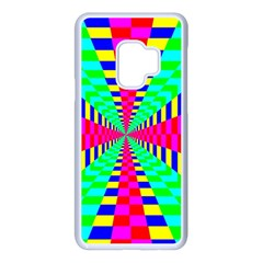 Maze Rainbow Vortex Samsung Galaxy S9 Seamless Case(white)