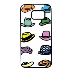 Hat Dress Elegance Samsung Galaxy S7 Black Seamless Case by HermanTelo