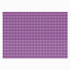 Gingham Plaid Fabric Pattern Purple Large Glasses Cloth