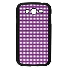 Gingham Plaid Fabric Pattern Purple Samsung Galaxy Grand Duos I9082 Case (black)