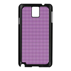 Gingham Plaid Fabric Pattern Purple Samsung Galaxy Note 3 N9005 Case (black) by HermanTelo