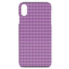 Gingham Plaid Fabric Pattern Purple Iphone Xs Max