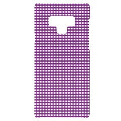 Gingham Plaid Fabric Pattern Purple Samsung Note 9 Black Uv Print Case  by HermanTelo