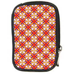 Hexagon Polygon Colorful Prismatic Compact Camera Leather Case by HermanTelo
